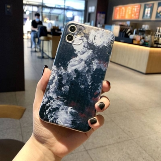 8plus蘋果12/ XS手機殼iphone11ProMax全包XR創意6sP水粉畫7se 個性水彩藝術風mini保護殼