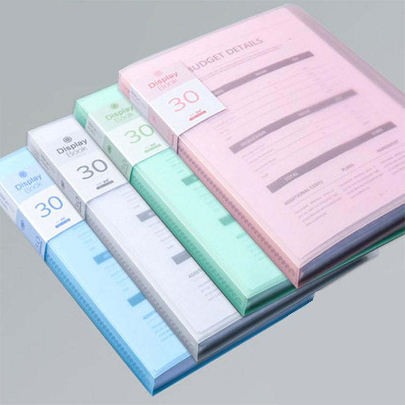 [現貨] A4文件夾 30頁 A4檔案夾 文件夾 透明資料夾 辦公室文具 開學文具 果凍色 明亮