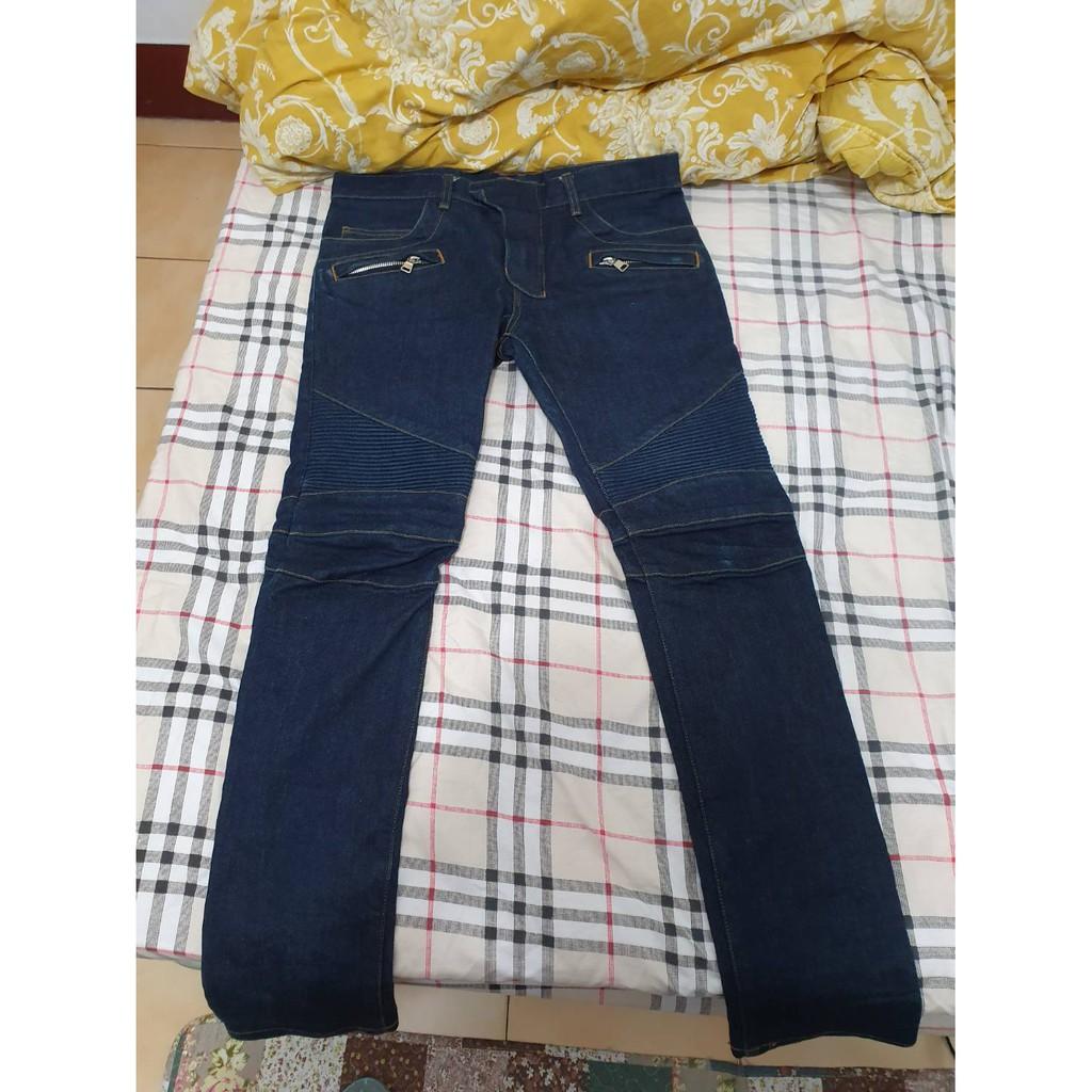 Balmain homme 藍原色機車牛仔褲