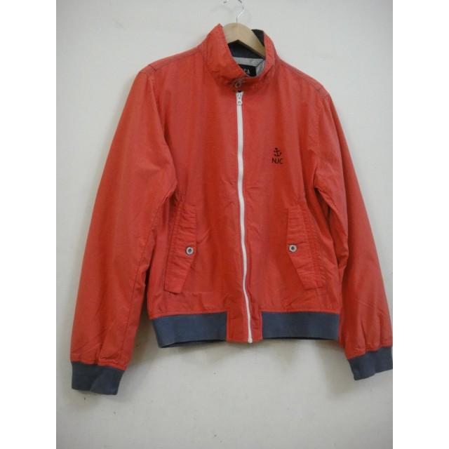 (櫻桃妮可二手店) NAUTICA 女款平織夾克式外套-FC002橘紅色 S