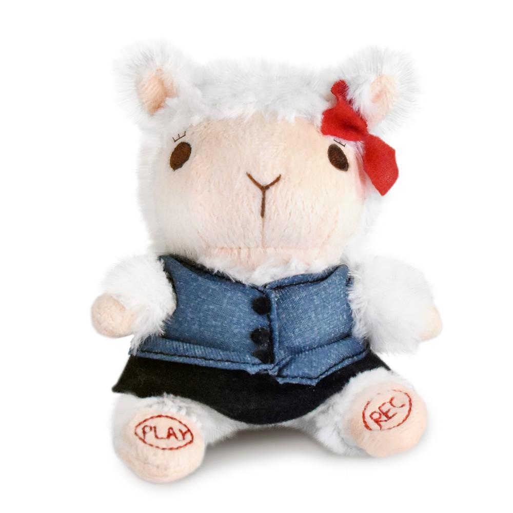 日本富士商社 傳話娃娃 日本可愛娃娃 錄音玩偶 OL羊