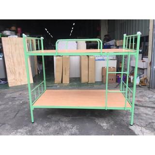 東鼎二手家具 全新 綠色小圓管 3尺雙層床*上下舖*實木上下舖*上下床*子母床*單人床架*二手床架*兒童床 臺中市