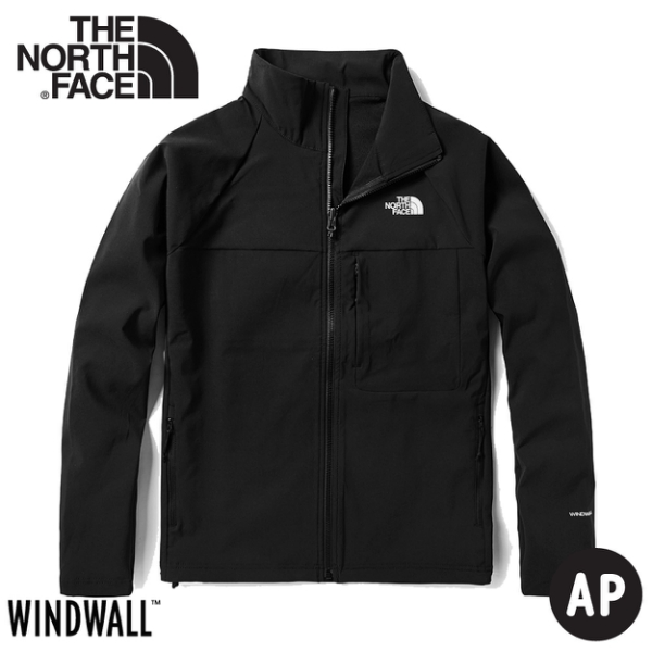 【The North Face 女 防風防潑水立領可套接外套《黑》】49ET/衝鋒衣/風雨衣/夾克/悠遊山水