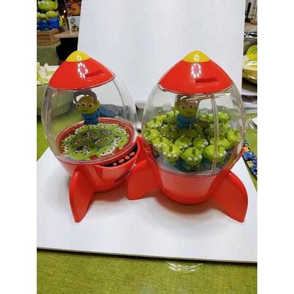 迪士尼玩具總動員三眼怪火箭糖果爆米花罐toy story 模型Rement食玩盒玩非扭蛋轉蛋