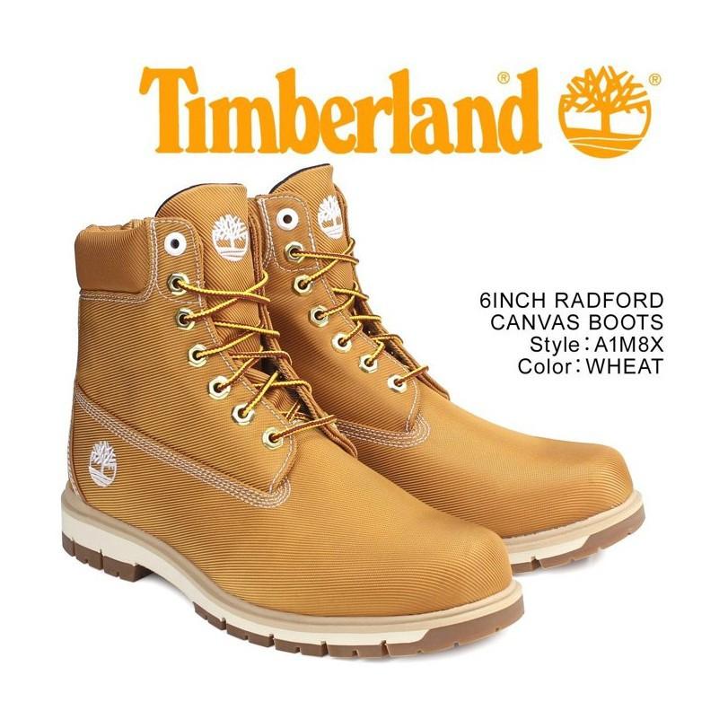 帝安諾-TIMBERLAND RADFORD CANVAS BOOTS 防水針織帆布靴(駝) A1M8X 黃靴 男