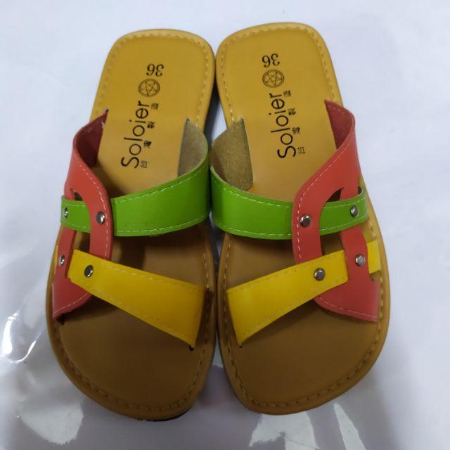 夏天款皮革涼鞋-全新