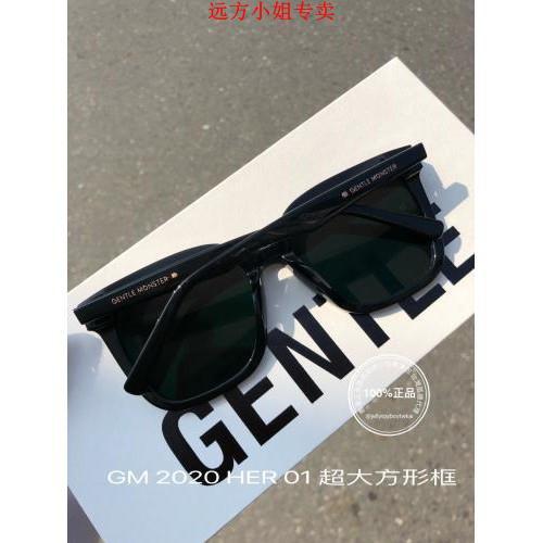 全新正品 gentle monster HER 01黑色框_GM Flatba系列 太陽眼鏡 愛的迫降 孫藝珍 同款