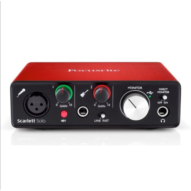 Focusrite Scarlett Solo MK2 2代 錄音介面 音效卡 直播 二手