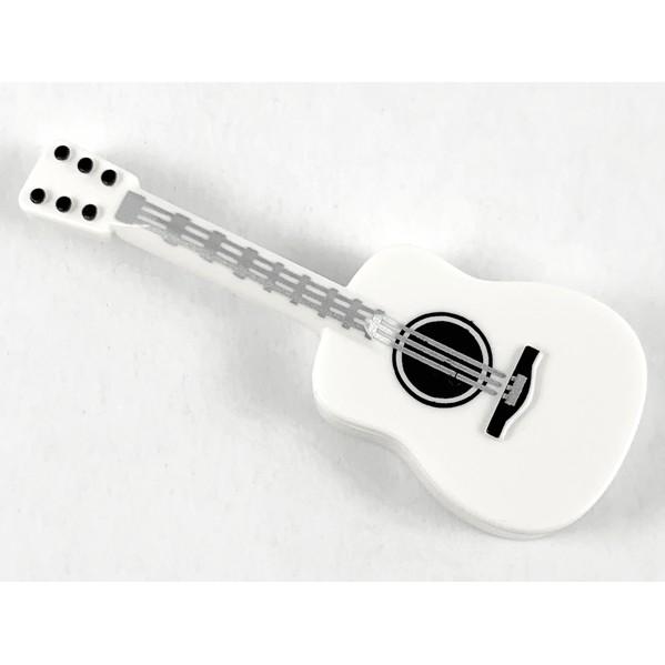 LEGO 樂高 白色 吉他 印刷 米奇吉他 25975pb02 21317