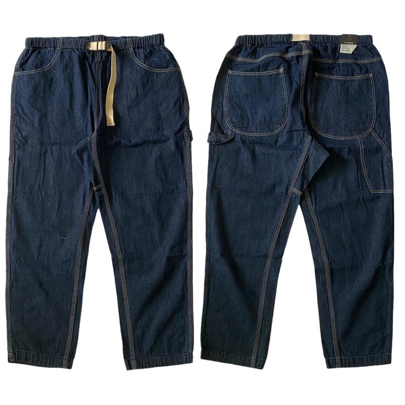 [特價790] 韓國 B.BANANA 腰帶 錐形 畫家褲 復古 三本針 工裝 牛仔褲 工作褲 滑板 長褲 古著