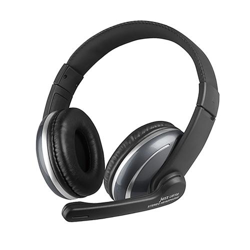 INTOPIC 廣鼎 JAZZ-UB700 USB 頭戴式耳機麥克風 耳罩式 有線耳機 耳麥 黑