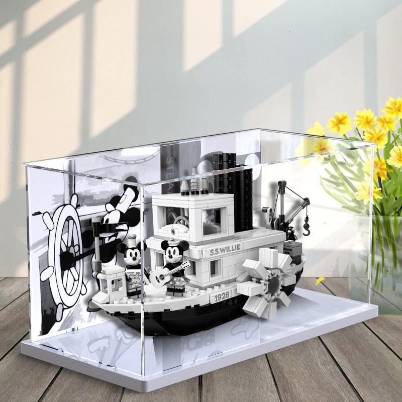 【生活百貨】▦❈【xnx366】LEGO迪士尼威利號汽船米奇蒸汽船 21317 亞克力展示盒透明防塵罩