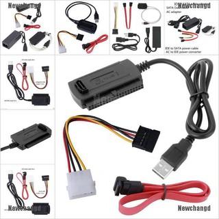 【Newchangd】USB 2.0轉IDE SATA S-ATA 2.5 3.5硬盤HDD轉換器適配器電纜新充電線