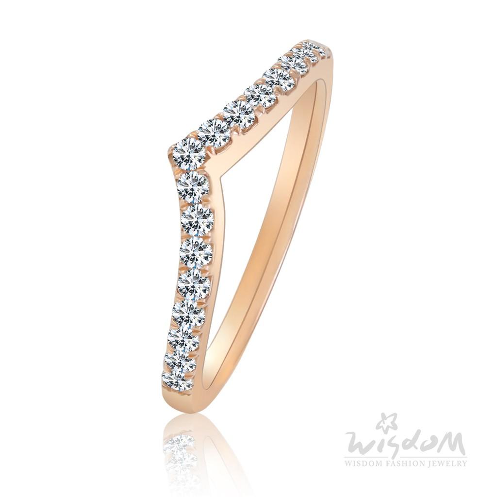 威世登 戀愛女神 玫瑰金鑽石戒指 DA03128M2-BXFCX
