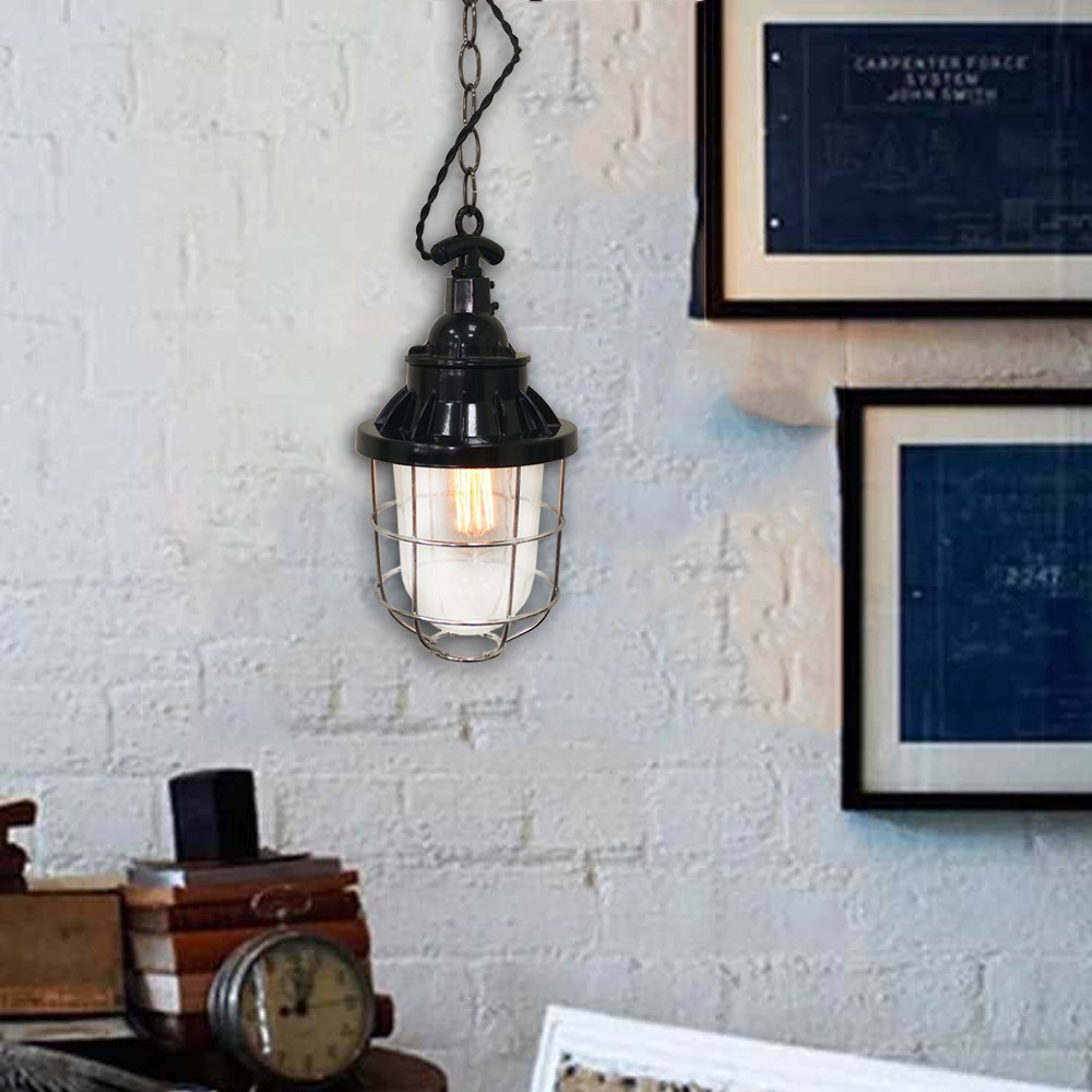 H&R安室家 17x32cm無燈罩船用鑄鐵吊燈