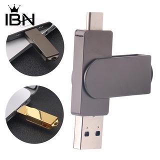 ◊8G /  16G /  32G /  64G 便攜式旋轉蓋 USB 3.0 Type-C 金屬閃存 U 盤