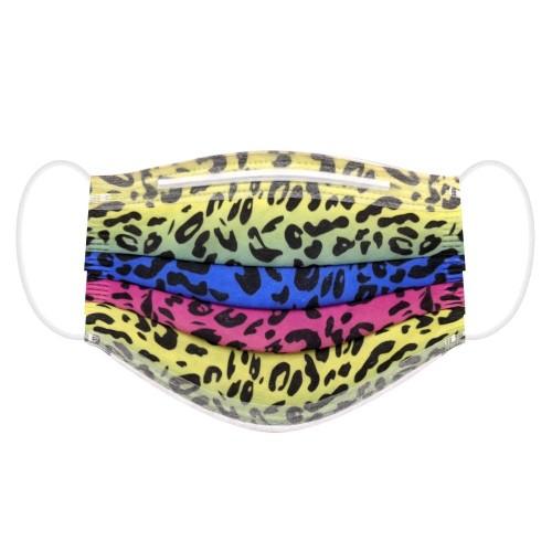【 荷康】醫用醫療口罩 雙鋼印 台灣製造 國家隊 炫彩豹紋(30片/盒)