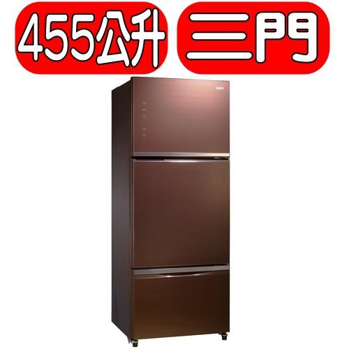 《可議價》SAMPO聲寶【SR-P46GDV(R7)】455公升三門變頻玻璃冰箱