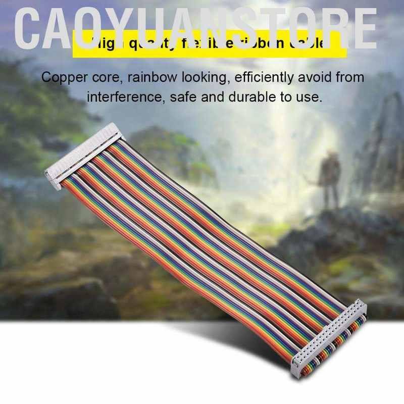 Caoyuanstore 適用於Banana Pi Raspberry的40Pin GPIO帶狀扁平適配器電纜線