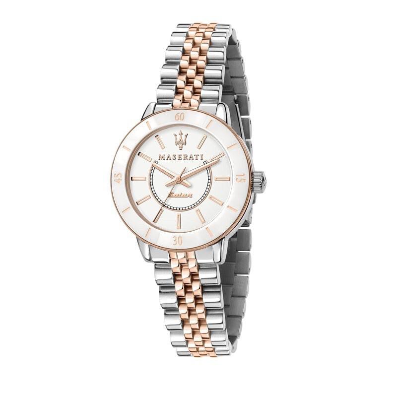商城出貨🚚免運優惠✨ Maserati瑪莎拉蒂 SUCCESSO LADY 光動能玫瑰金鋼帶女錶 R8853145504