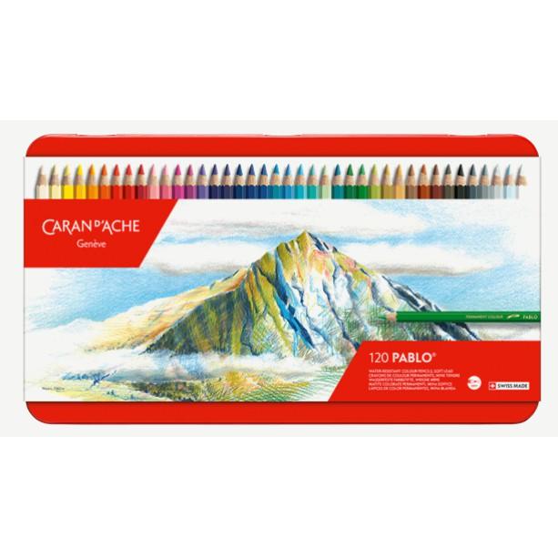 瑞士卡達 CARAN D'ACHE 666.420 PABLO 專家級油性色鉛筆 120色鐵盒裝