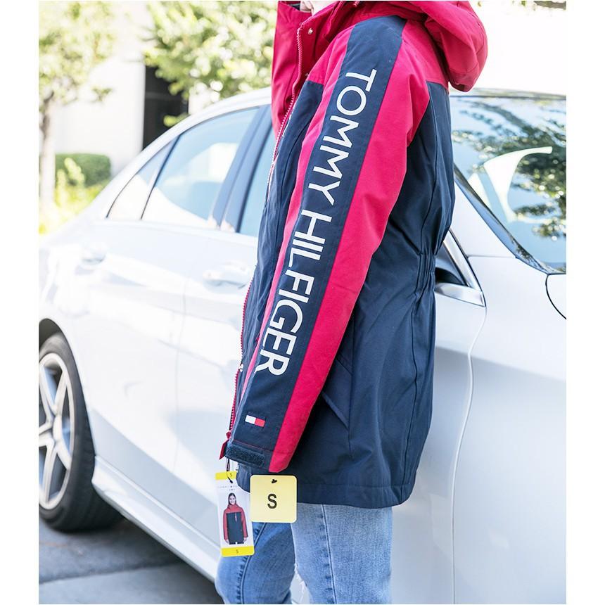 Tommy Hilfiger男女皆可穿 立領防風三合一衝鋒外套  深藍 【 Watch On-line Store 】