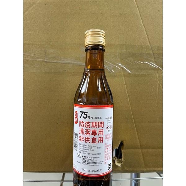 少量 現貨 台酒 酒精 防疫 75% 肺炎 防疫酒精 350ml防疫必備 免稀釋  台酒
