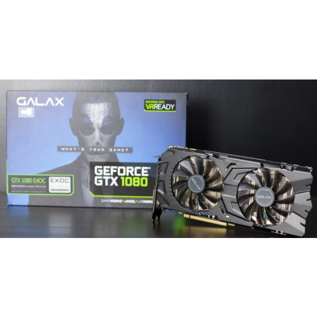 GALAX GTX1080 EXOC 8gb with box