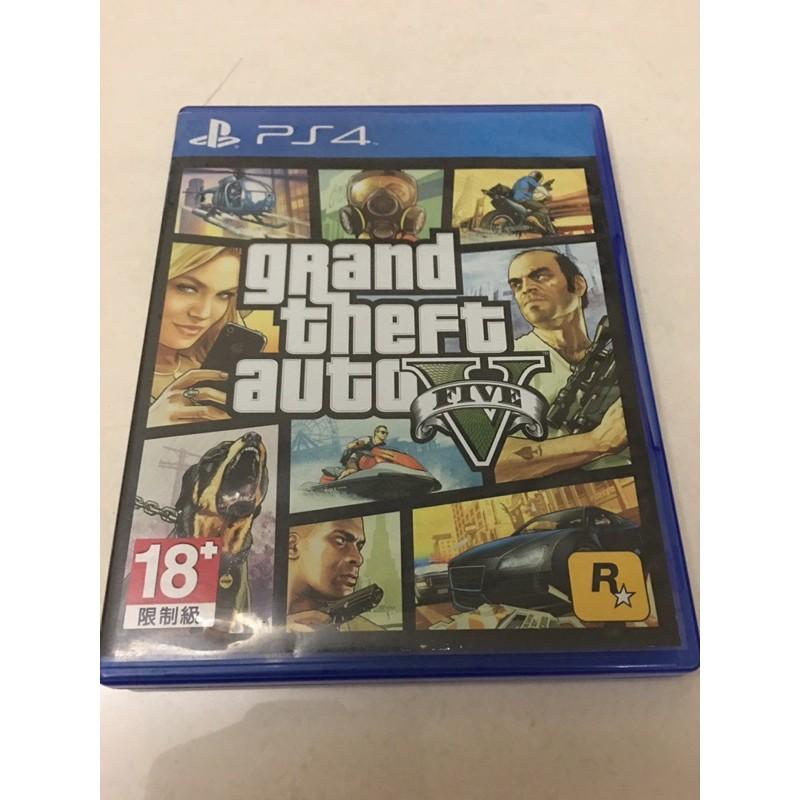 PS4 俠盜獵車手5 GTA5 中文版 plus帳送100萬線上幣 grand theft auto V 光碟無刮