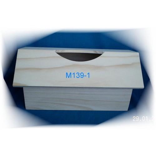 ★好玩家創意館★M139-1 【促銷】屋形橫式面紙盒~ 白松木