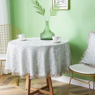 【優質現貨】美式鄉村桌布客廳茶幾小圓桌墊實木餐桌布藝北歐家用棉麻圓形臺布