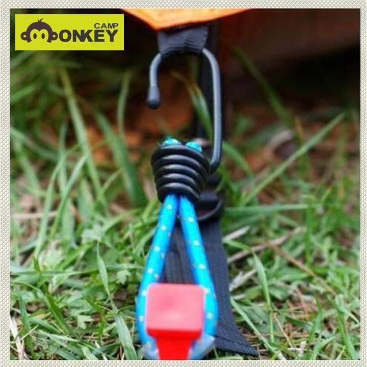【Monkey CAMP】彈力繩鉤、營繩天幕緩衝勾 、鬆緊繩、  彈力鉤繩、  帳篷拉繩彈性繩 、 彈力勾  、捆繩