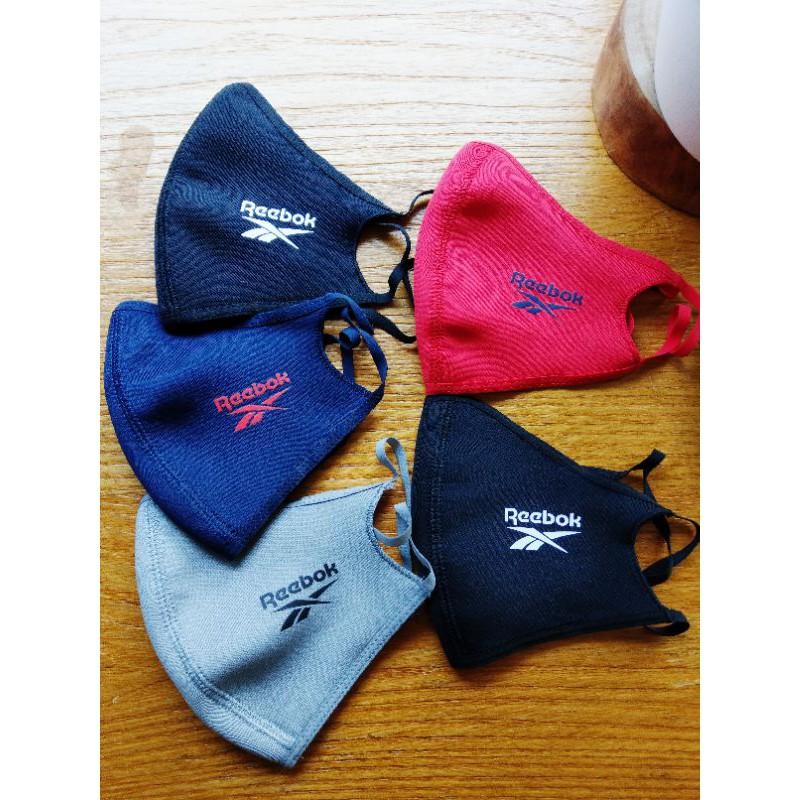 3件組南◇現貨 REEBOK FACE COVERS MASK 口罩 布面 可清洗 藍色 灰色 男女 面罩 透氣 紅色