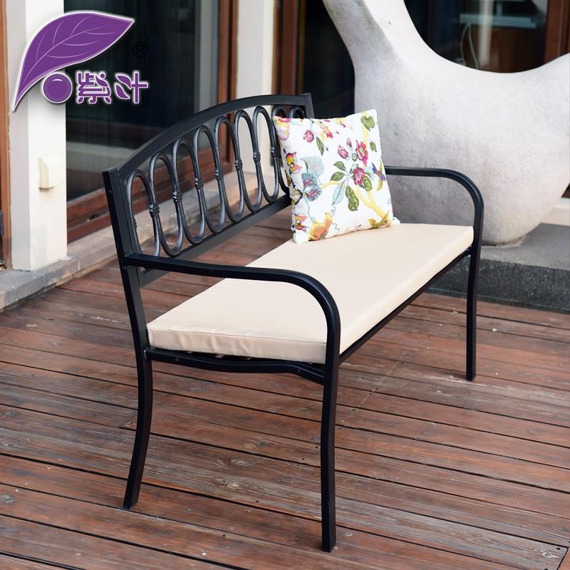 【雙十一優惠價全場85折】公園椅庭院鐵藝椅子沙發椅戶外椅陽台椅雙人椅子休閒長排椅