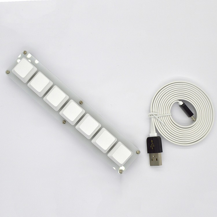 7鍵鍵盤 USB接口自定義宏迷你機械鍵盤 快捷鍵 一鍵密碼 osu Sayobot