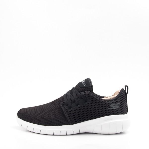 Skechers  (女) 運動系列GO FLEX MAX 慢跑鞋-黑/白 15701BKW  現貨  零碼出清