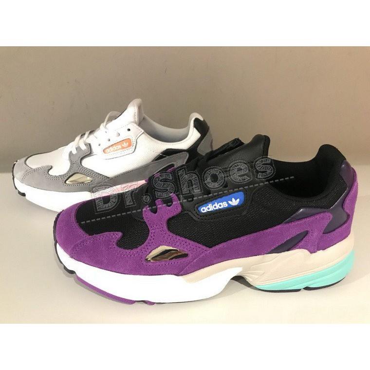 Adidas Wmns Falcon 女鞋 老爹鞋 休閒鞋 白灰粉CG6214 黑紫CG6216