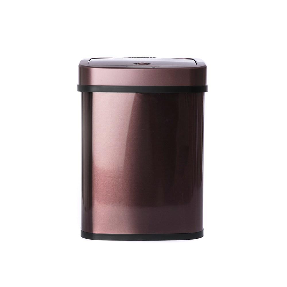 美國NINESTARS感應式金屬垃圾桶12L-酒紅DZT-12-5