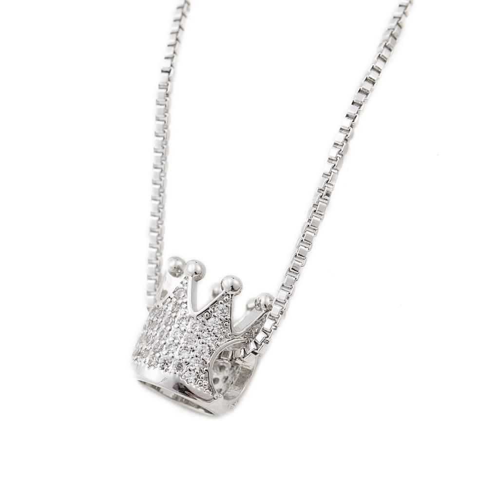 皇冠 水鑽項鍊 韓國明星風格 時尚精品 艾豆 ND6518
