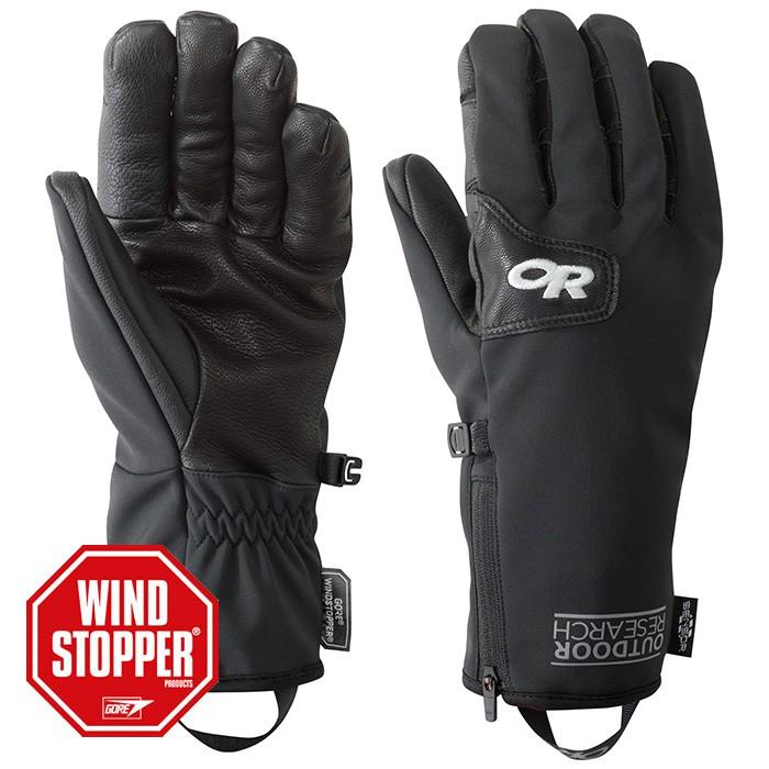 【Outdoor Research 美國】Stormtracker 防風手套 滑雪手套 黑色 (244881-0001)
