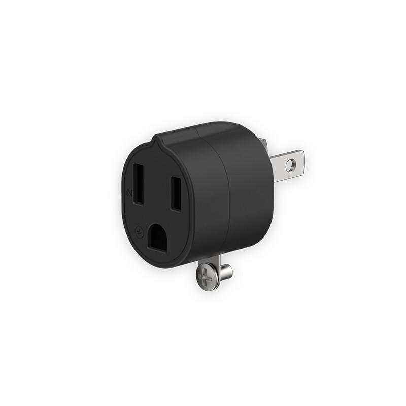 Unipapa 延長線配件 3轉2電源轉接頭 黑色
