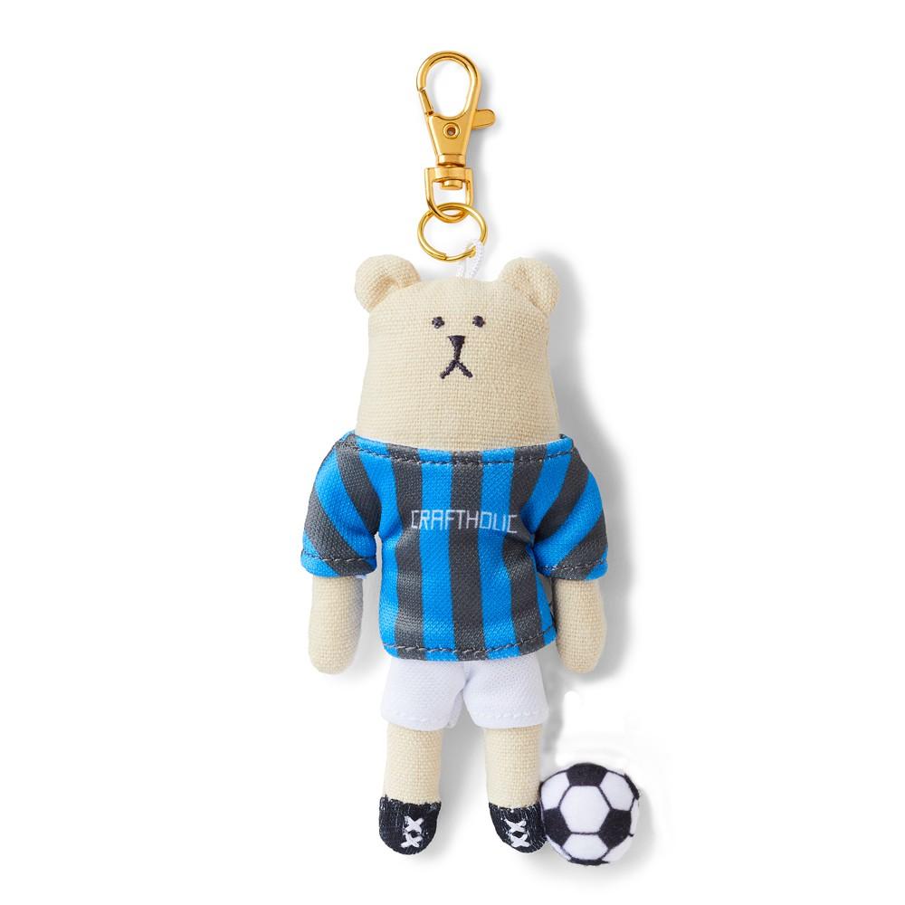 CRAFTHOLIC 宇宙人 足球選手熊吊飾 (限定款)
