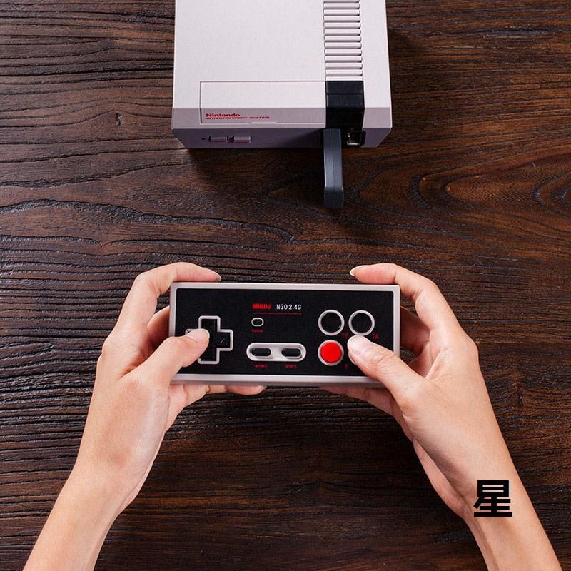 8Bitdo八位堂N30 2.4G經典無線手柄 NES迷你游戲機即插即用可連發