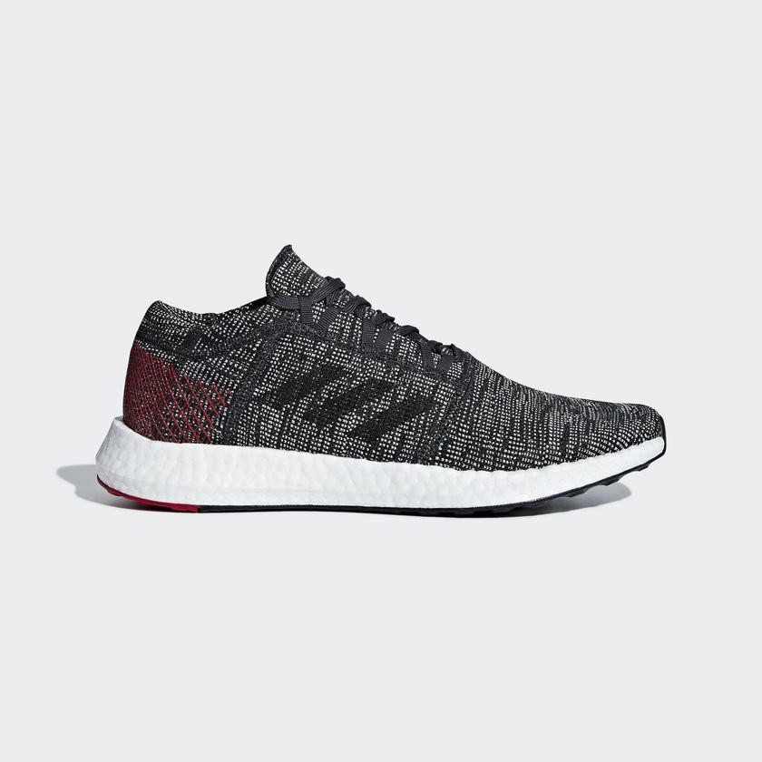 正品公司貨 Adidas PureBOOST GO 彭于晏款 灰紅色 編織 愛迪達 慢跑鞋 透氣 AH2323