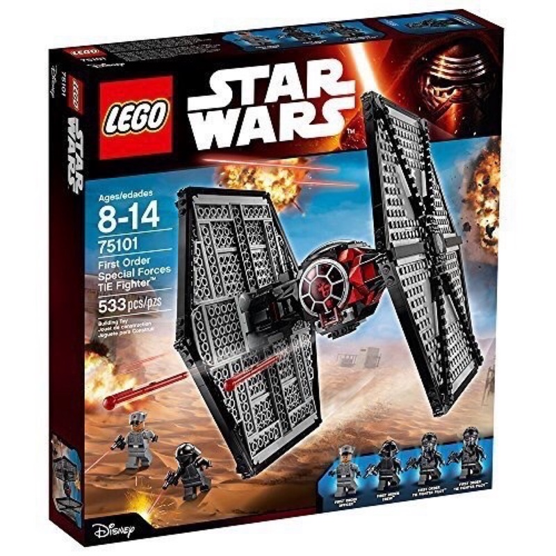 Lego 樂高 75101 星際大戰 First Order Special Forces TIE fighter 全新
