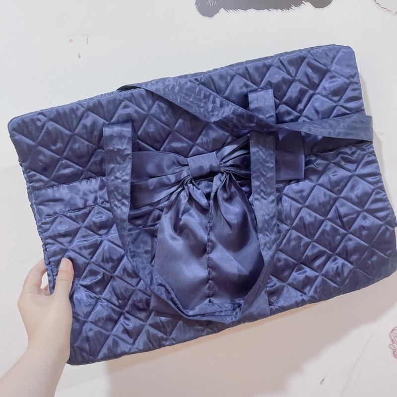 NARAYA NaRaYa曼谷包深藍 蝴蝶結 旅行袋