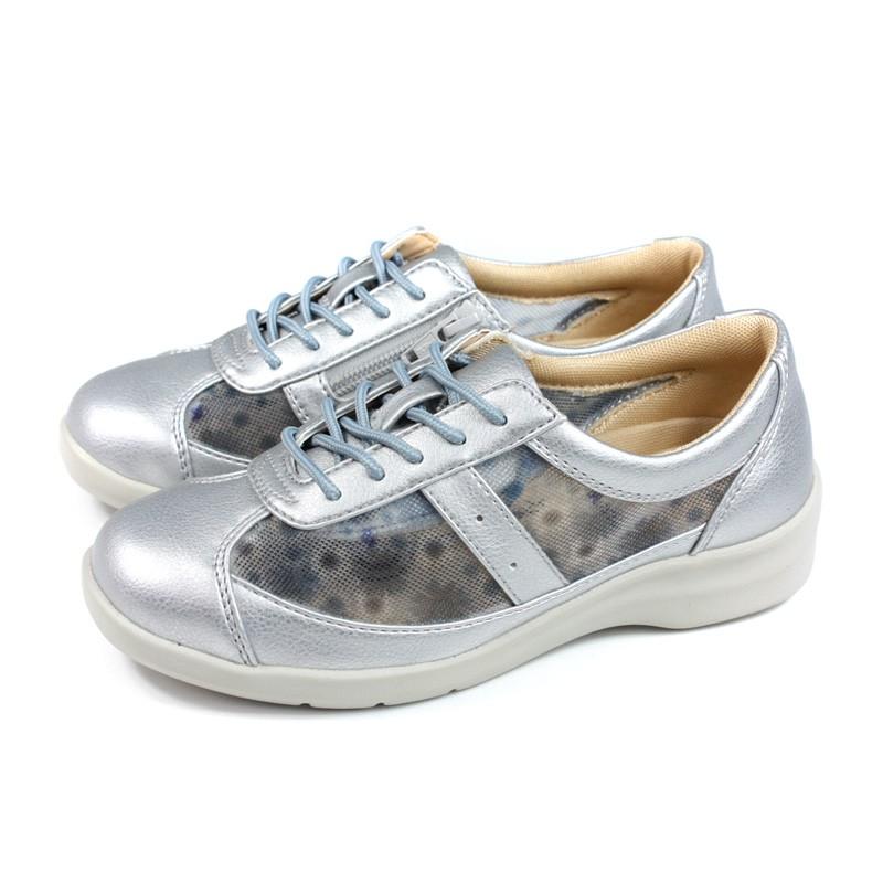 Moonstar Eve 休閒鞋 綁帶 銀色 女鞋 EV3051 no344
