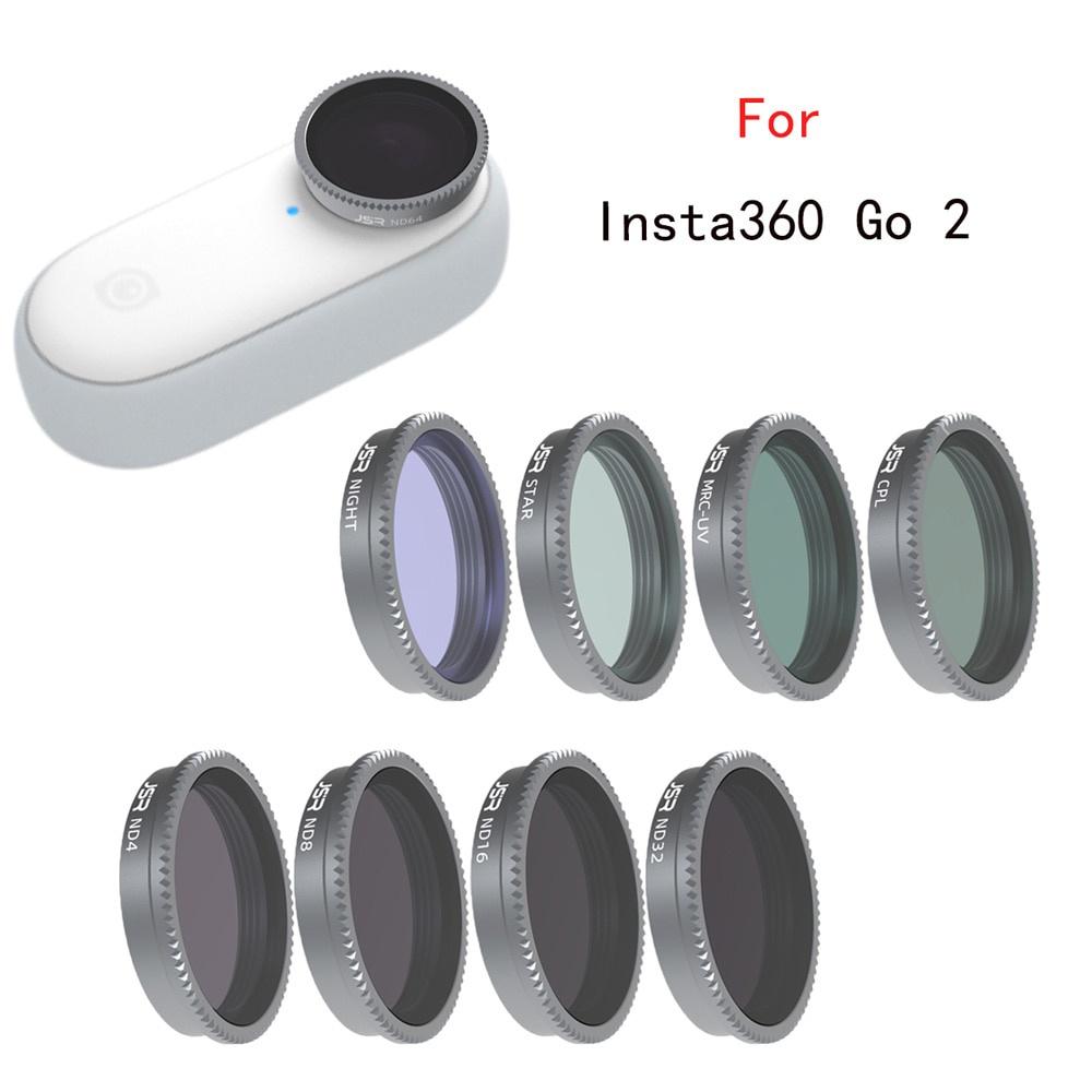 適用於 Insta360 GO 2 GO2 運動相機的玻璃 MCUV CPL ND4 8 16 32 夜視鏡頭濾鏡保護蓋