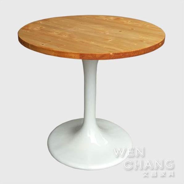 訂製品 丹麥北歐風 鬱金香桌 圓餐桌 洽談桌 CU010 文昌家具