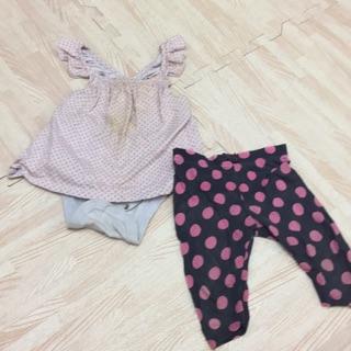 Baby GAP 12-18M 80cm背心洋裝包屁衣 3-6M 長褲 2件共20元 新北市